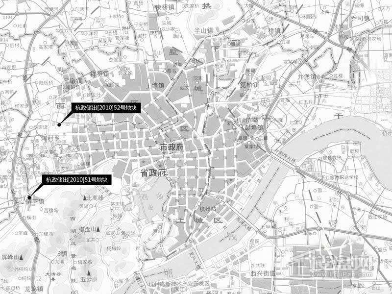 绿城集团52号地块交通图