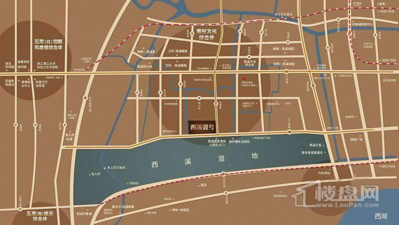 西溪壹号交通图