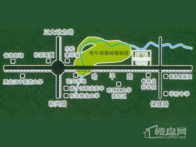 闻达绿都交通图