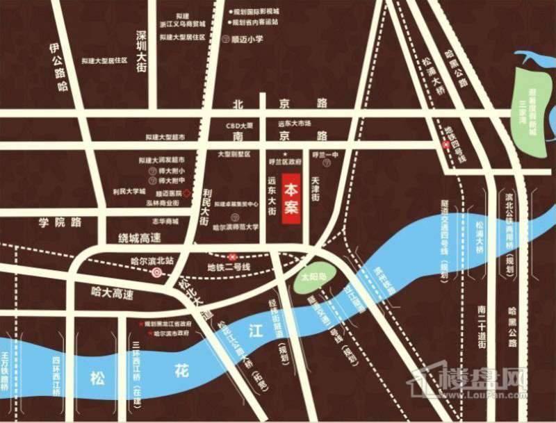 福城橡树湾交通图