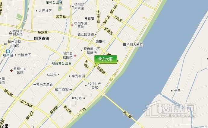 荣安大厦交通图