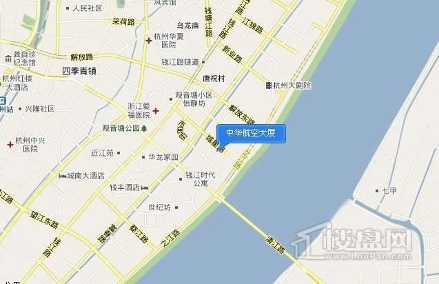 中华航空大厦交通图