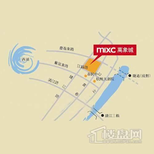 杭州·万象城交通图