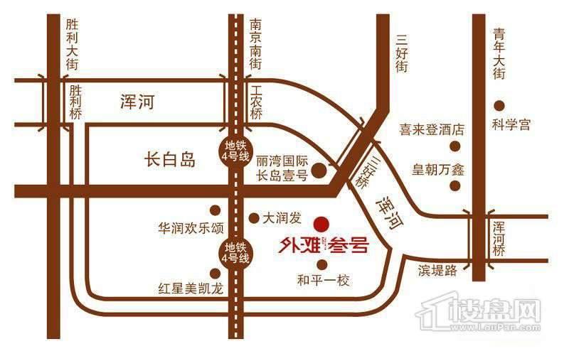 丽湾国际外滩叁号交通图