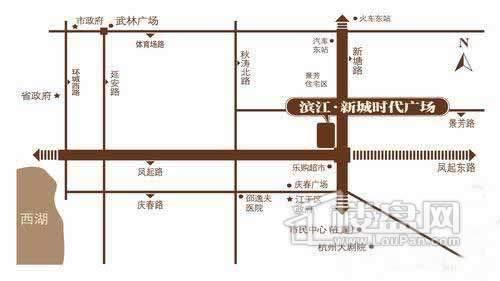 滨江新城时代广场交通图