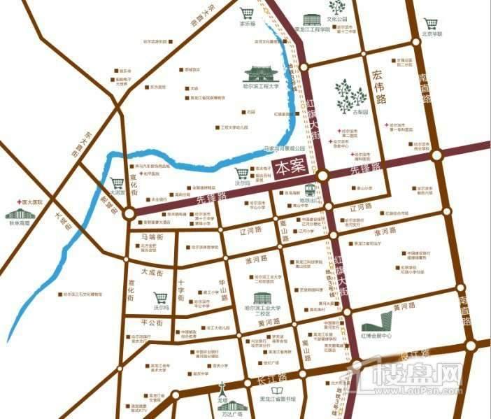 中铁嘉园交通图