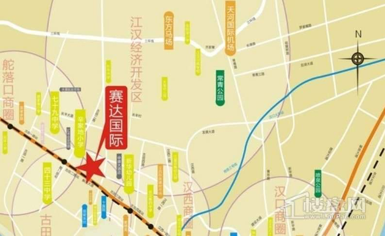 赛达国际交通图