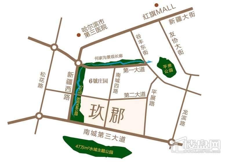 凯盛源玖郡交通图