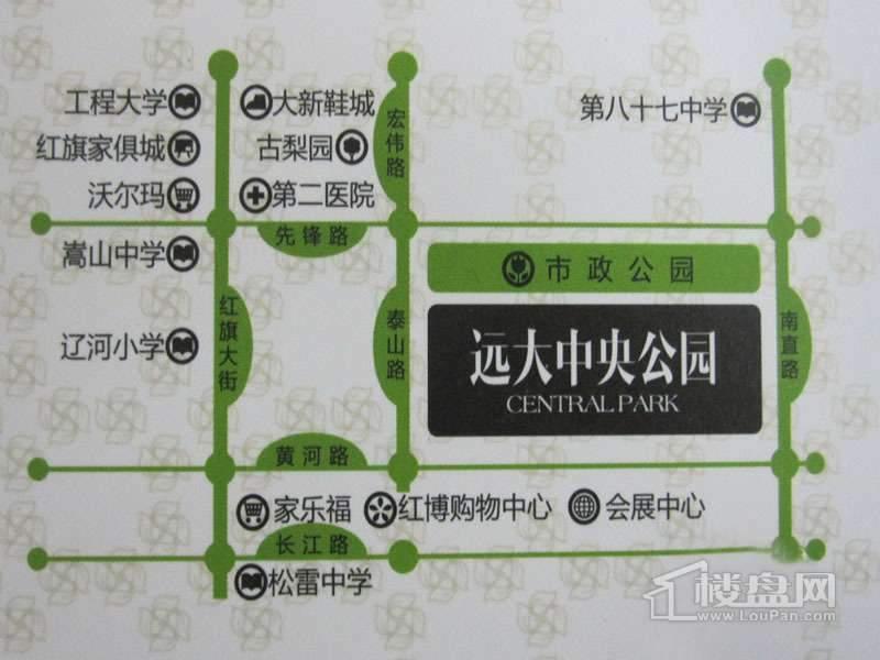 远大中央公园交通图