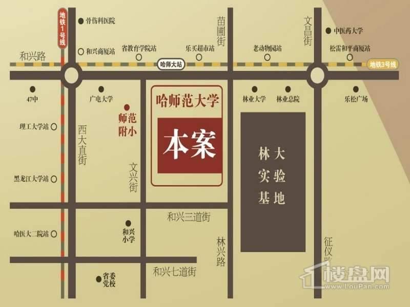 黑龙江现代文化艺术产业园交通图