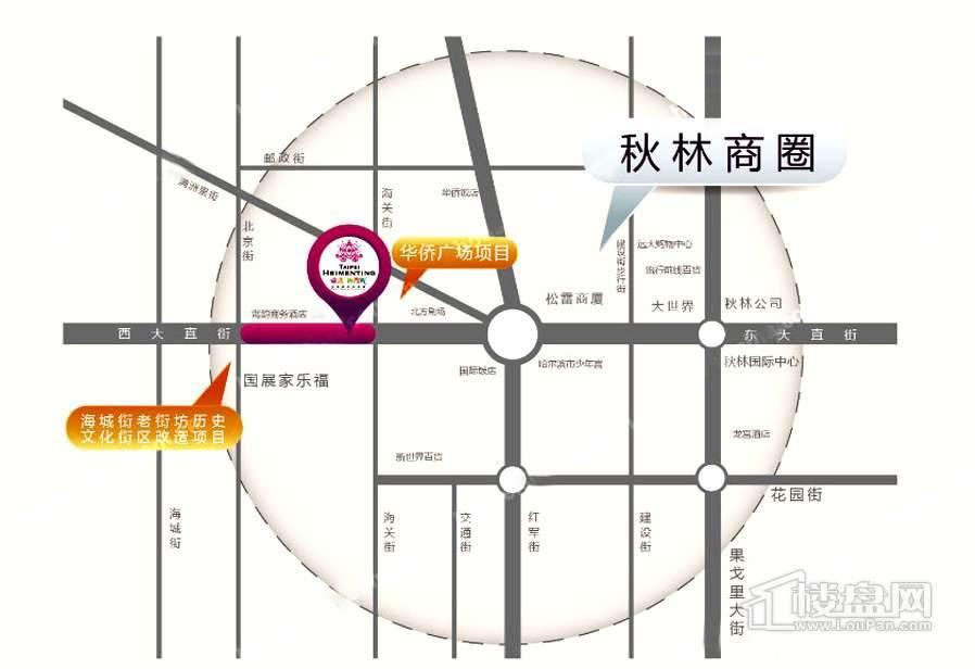 台北西门町女性时尚生活馆交通图