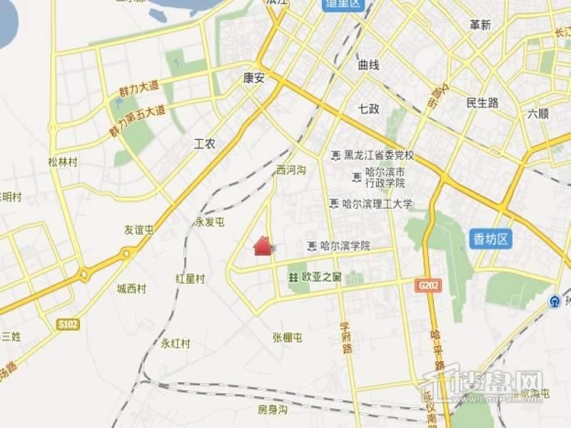 尚层峰景交通图