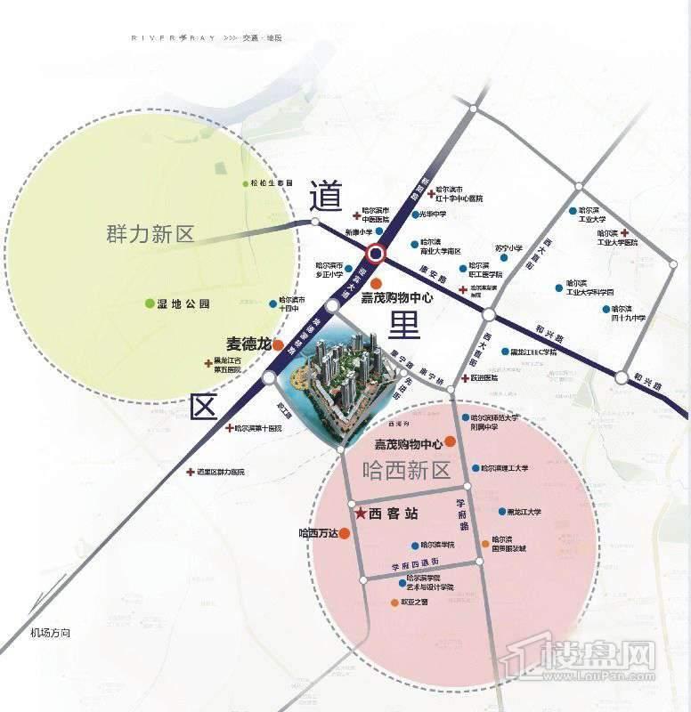 福顺尚景交通图