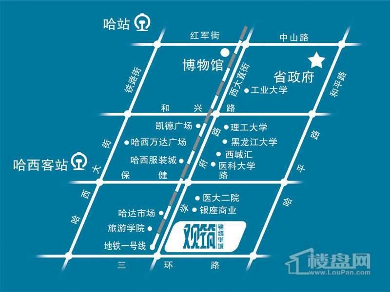 锦绣华城交通图