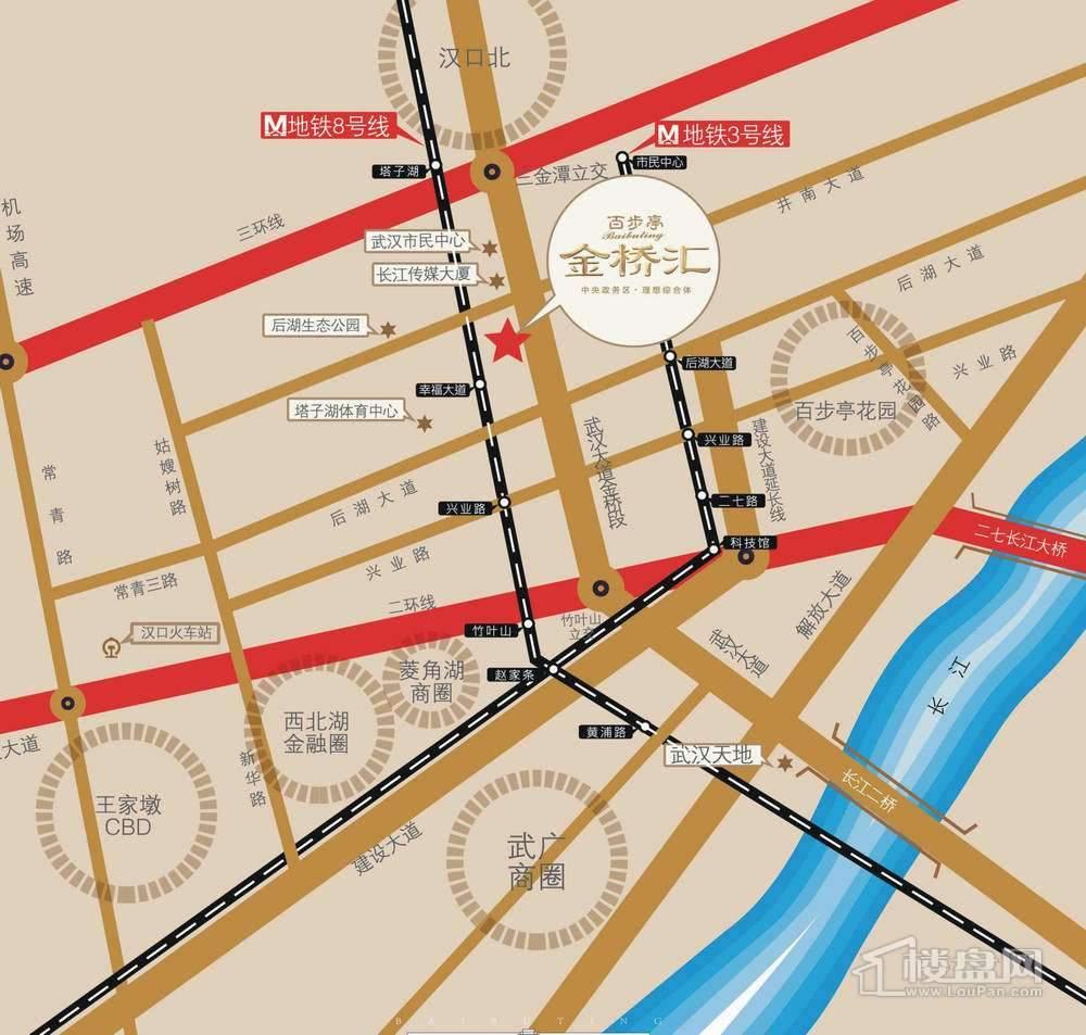 百步亭金桥汇位置图