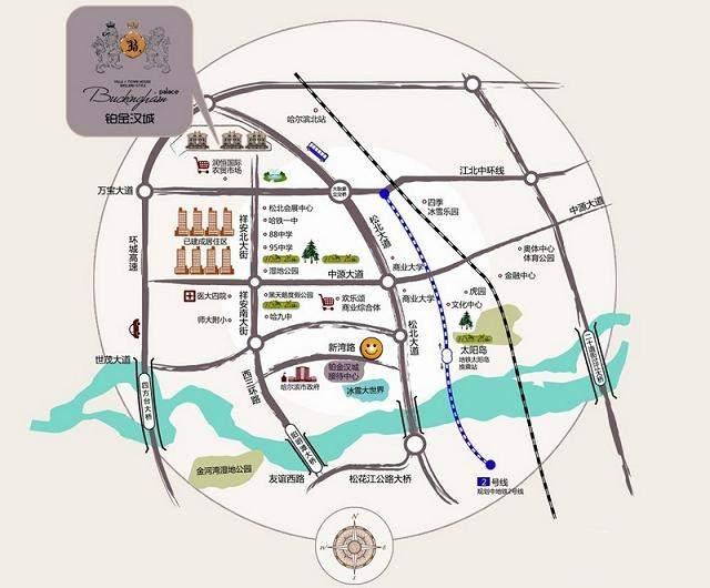铂金汉城位置图
