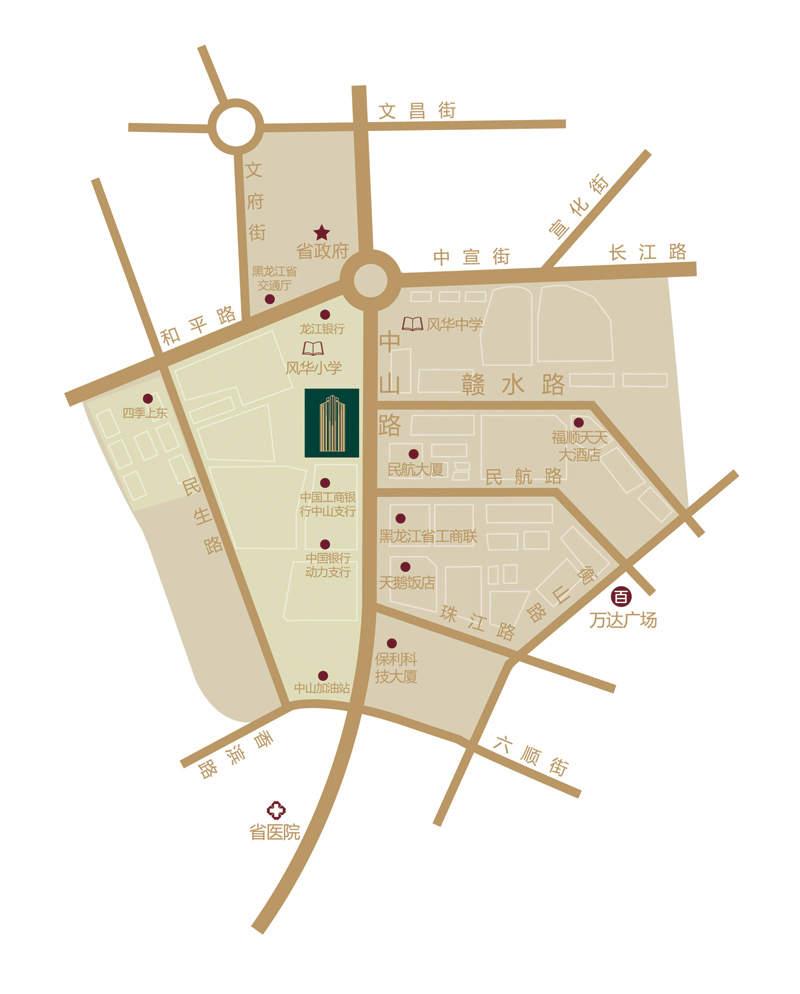 常青国际大厦位置图