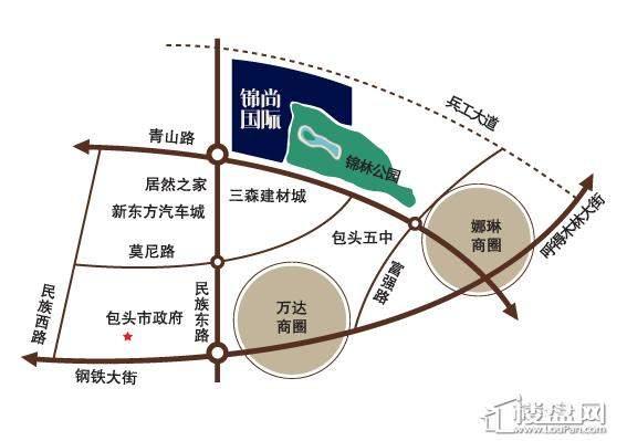 锦尚国际别墅位置图