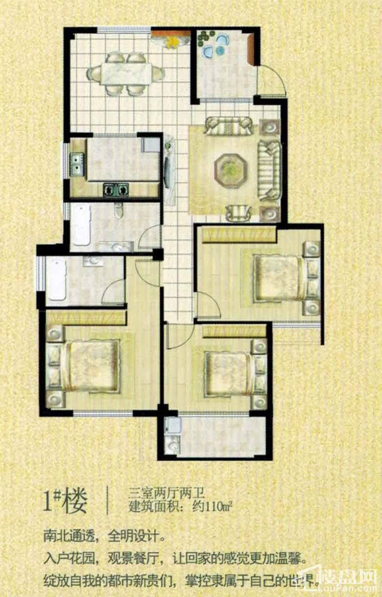 1#楼户型图