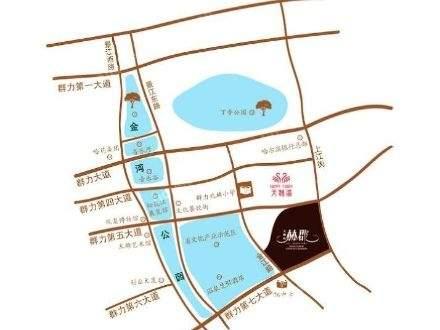 天鹅湾赫郡洋房位置图