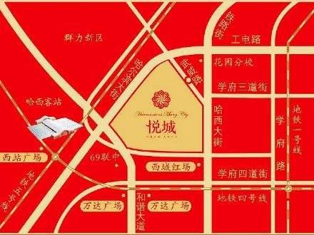 悦城商铺位置图