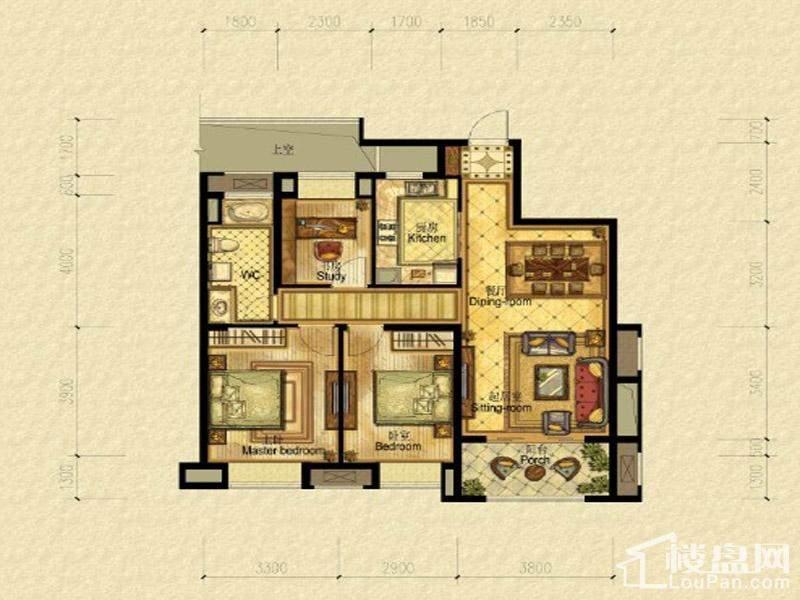 5、7#楼中间套标准层户型
