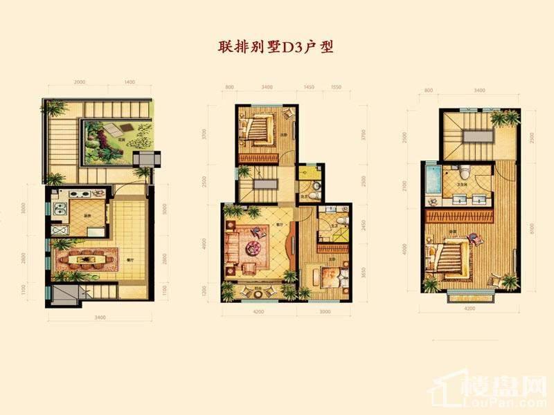 联排别墅D3户型