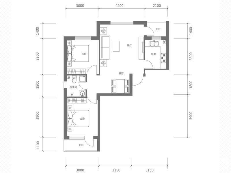 A1-1#楼C户型