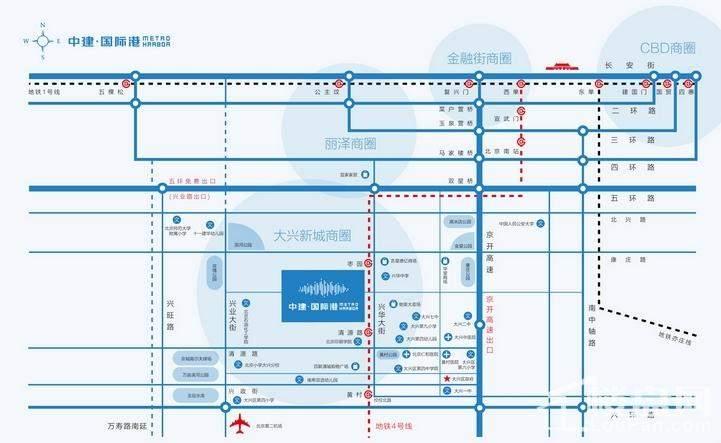 中建国际港位置图