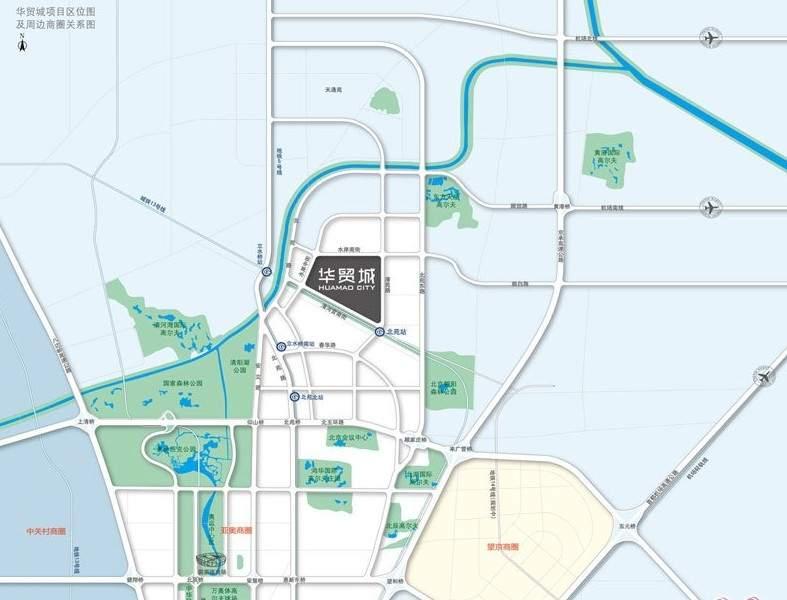 北京华贸城位置图