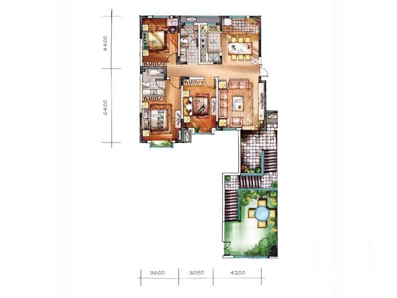洋房二层ZS户型