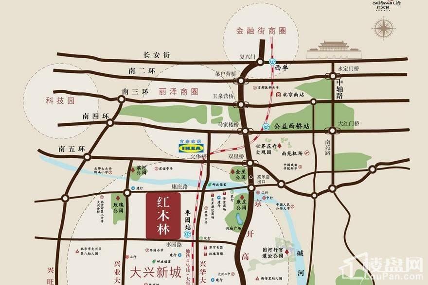 北京城建红木林位置图