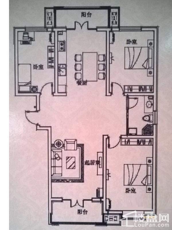 一期洋房标准层C户型