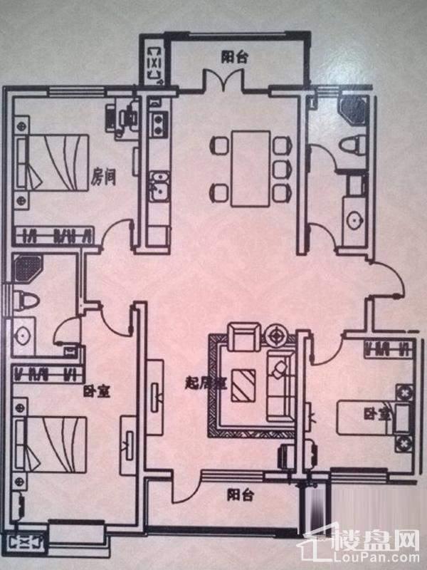 一期洋房标准层D户型