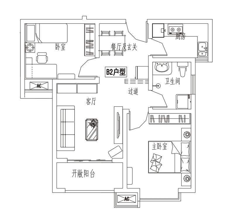 【3#】B2户型