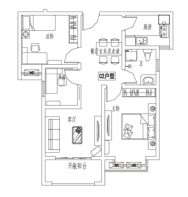 【4#】C2户型