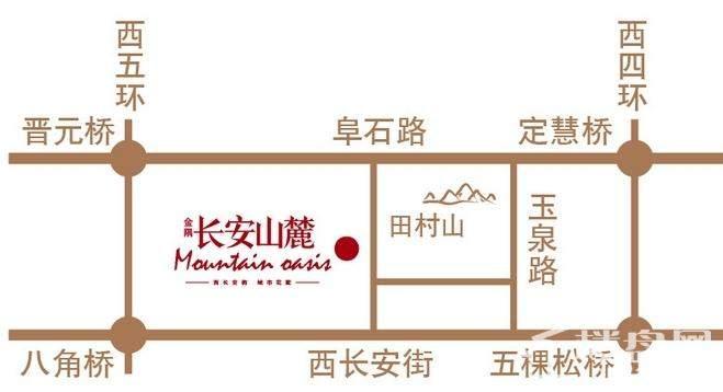 金隅·长安山麓位置图