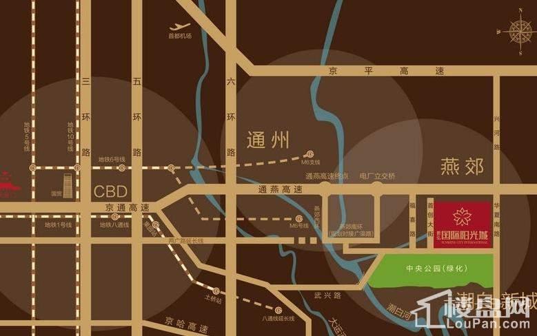 新弘国际阳光城位置图