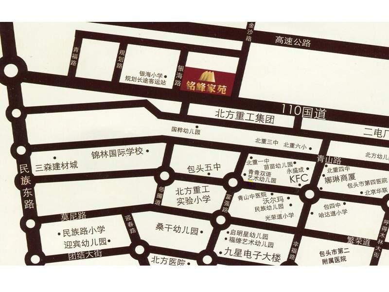 铭峰家苑位置图