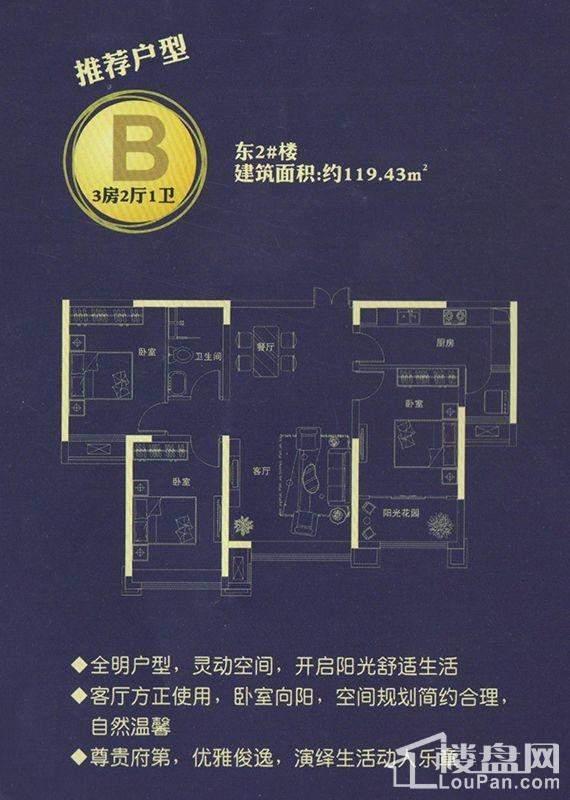 推荐户型B东2#楼