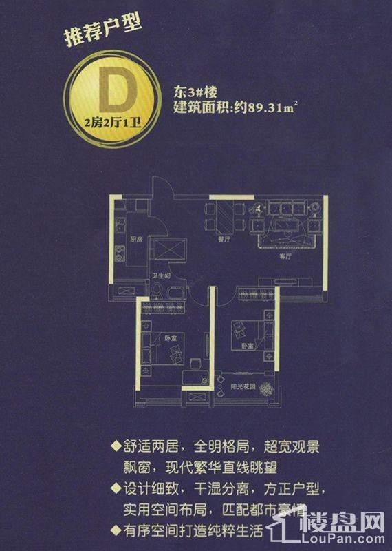 推荐户型D东3#楼