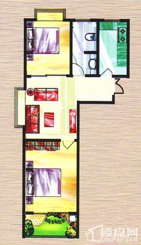 6号楼标准层A户型