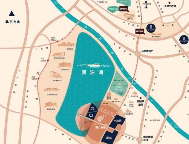 富力新城位置图
