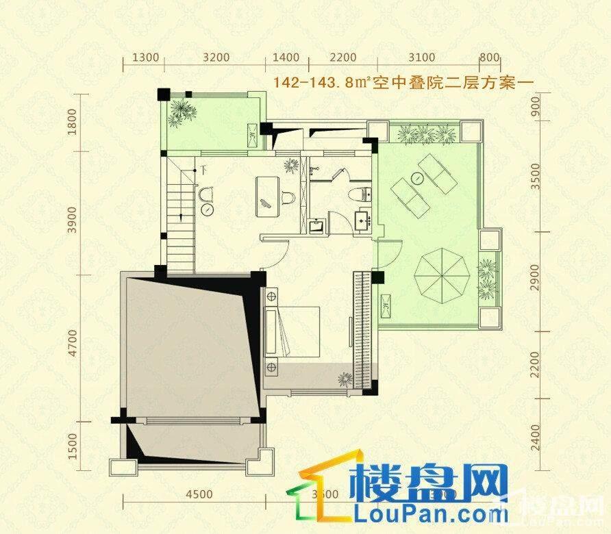 复式楼1层户型图方案二