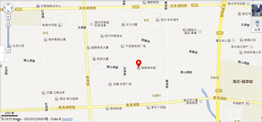 丽景湾华庭位置图