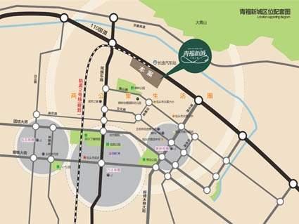 青福新城位置图