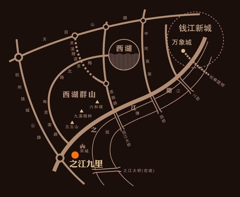 华润新鸿基之江九里位置图