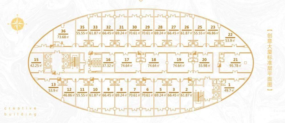 浙大科技园标准层平面图