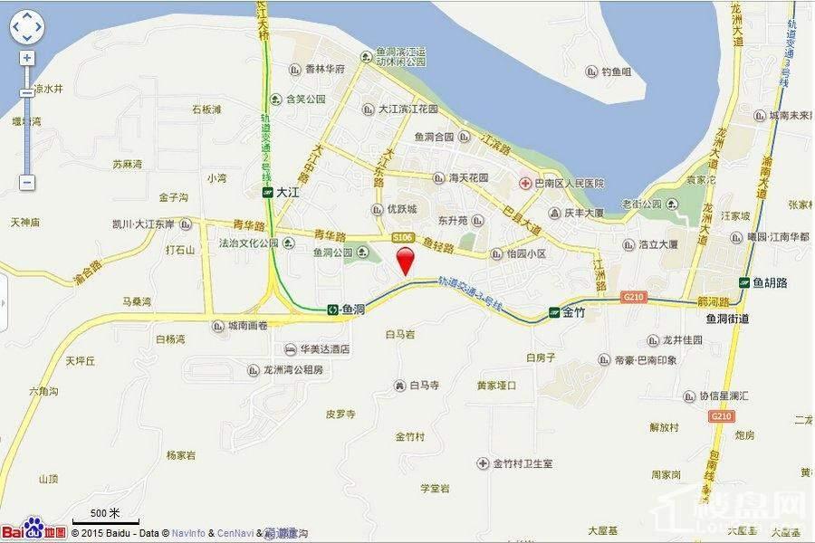 鲁能南渝星城位置图