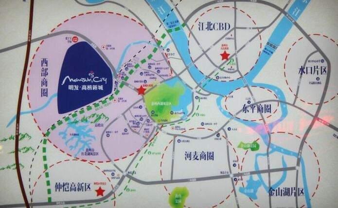 明发·高榜新城位置图